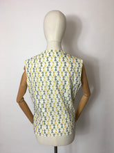 Load image into Gallery viewer, Original 1950s Cotton Day Blouse - In the Most Amazing Poodle Print and Yellow & Green Colour Combination