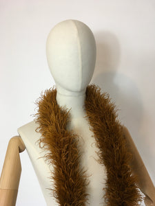 Original early 1930's Ostrich Feather Boa in the richest golden auburn - A Festival Of Vintage Fashion Show Exclusive