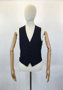 RESERVED DO NOT BUY - Original Gents Pinstripe Wool Waistcoat - With Button Front, Pockets & Backstrap Fastening