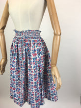 Load image into Gallery viewer, Original 1950's Floral Printed Cotton Skirt - Made by ' Tootal'