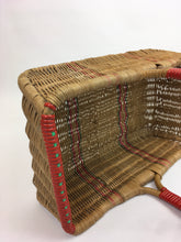 Load image into Gallery viewer, Original 1940's Wicker Basket - In Naturals, Reds and Greens