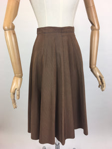 Original 1940's Skirt - With a Fabulous 8 Gore Panel Sweep