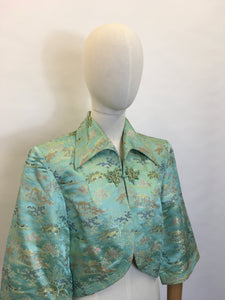 Original 1937 Oriental Loungewear Jacket - Featuring Strong Pointed Collar Detailing