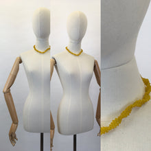 Load image into Gallery viewer, Original Early 1950's ' Scoobie ' Necklace - In a Gorgeous Sunshine Yellow