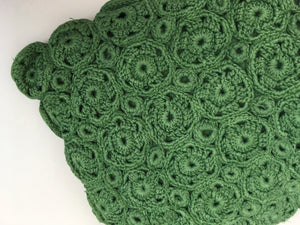 Original 1940s Crochet Clutch Bag - In a Lovely Shade Of Green