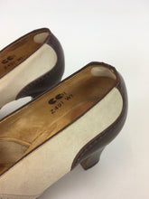 Load image into Gallery viewer, Original 1940s ' Start-rite' CC41 Utility Spectre Shoes - In Iconic Colour-way Cream & Brown