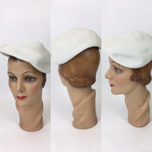 Load image into Gallery viewer, Original 1950's Simple Yet elegant White Hat - For Chic 50's Styling