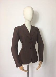 Original 1940's Summer Jacket in Brown - ' Sacony Palm Beach ' Label