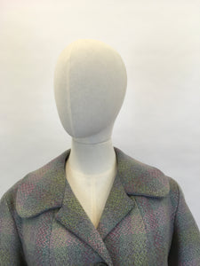 RESERVED DO NOT BUY - Original Early 1950's 2pc Wool Suit - In A Lovely Springtime Colour Pallet