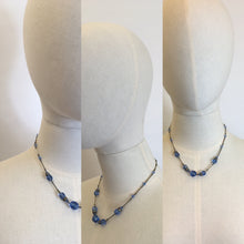 Load image into Gallery viewer, Original 1930's Necklace - With Royal Blue Glass Beads