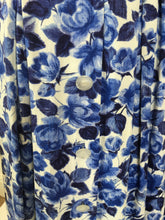 Load image into Gallery viewer, Original 1950's Cute ' St.Michael ' Day Dress - In A Lovely Blue & White Floral Cotton