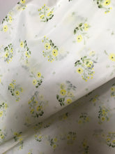 Load image into Gallery viewer, Original 1950s Sheer Nylon Dress Fabric - Lovely Yellow Ditsy Floral  3.5 m
