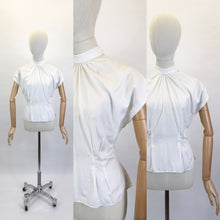 Load image into Gallery viewer, Original 1950's High Neck Blouse - Made From A Crisp White Cotton