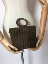Load image into Gallery viewer, Original 1930's Brown Popcorn Crochet Handbag - Festival of Vintage Fashion Show Exclusive
