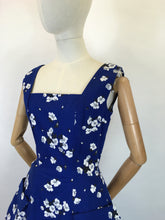 Load image into Gallery viewer, Original 1950's STUNNING ' Horrockses Fashions ' Cotton Dress - In Rich Navy, Deep Charcoals and Soft Grey