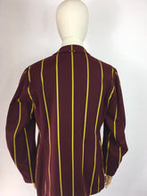 Load image into Gallery viewer, Original College Blazer By ' Ryder and Amies Cambridge' - In a Lovely Burgundy and Yellow Stripe