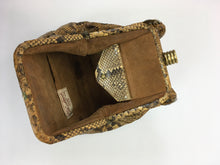 Load image into Gallery viewer, Original 1930s Python Skin Handbag - In a Fabulous Shape with Knotted Handle Detailing
