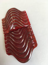 Load image into Gallery viewer, Original 1930's Art Deco Red Glass Buckle - With Fabulous Detailing