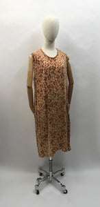 Original 1920's Devore Dress - In a soft beige tone featuring ruched detailing