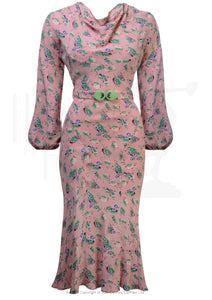 House Of Foxy 1930's Joanie Dress - In Pixie Print