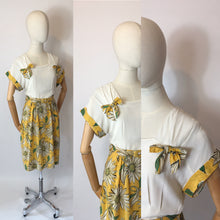 Load image into Gallery viewer, Original 1940's Stunning Summer Dress - Vibrant Colour Floral Print