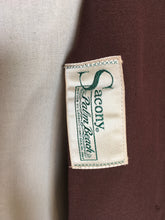 Load image into Gallery viewer, Original 1940's Summer Jacket in Brown - ' Sacony Palm Beach ' Label