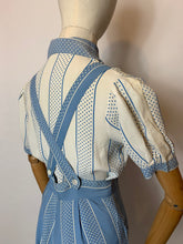 Load image into Gallery viewer, Original 1940's 2 pc Blouse & Dungaree Set - In the Most Summery Of Colour Pallets with Polka Dots