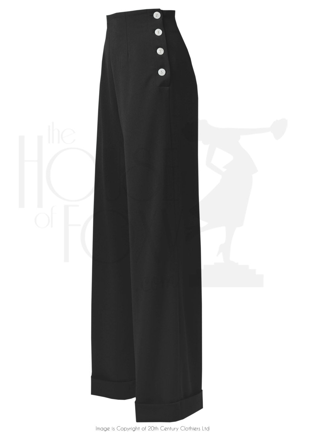 House Of Foxy 1940's Swing Pants in Black