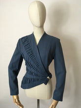 Load image into Gallery viewer, Original 1940's ' Lilli Ann' Asymmetric Front Jacket - In a Lovely Airforce Blue