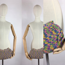 Load image into Gallery viewer, Original 1940's Crochet Clutch Bag - In a Fabulous Rainbow Colour Pallet