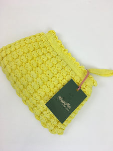 Original 1940s Popcorn Knitted Handbag - In a Glorious Sunshine Yellow