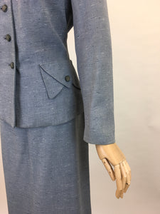 Original 1950s Atomic Fleck 2pc Suit - In a Lovely Powdered Blue