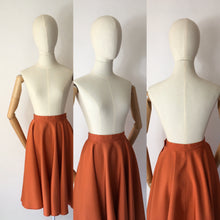 Load image into Gallery viewer, Original 1950's Full Circle Skirt - In a Lovely Rust Taffeta Blend Fabric