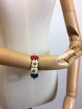 Load image into Gallery viewer, Original 1940's Celluloid Floral Bracelet - In lovely Summertime Colours