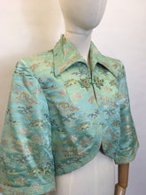 Load image into Gallery viewer, Original 1937 Oriental Loungewear Jacket - Featuring Strong Pointed Collar Detailing