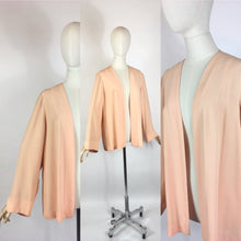 Load image into Gallery viewer, Original 1940's Edge to Edge Rayon Jacket - In A Darling Soft Apricot Peach