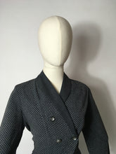 Load image into Gallery viewer, Original 1940's Slate Grey Lightweight Suit - A lovely Asymmetric Front Shape Detailing