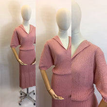 Load image into Gallery viewer, Original Late 1940's Early 1950's VOLUP Knitted Dress - Gorgeous Rose Pink