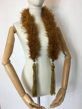 Load image into Gallery viewer, Original early 1930's Ostrich Feather Boa in the richest golden auburn - A Festival Of Vintage Fashion Show Exclusive