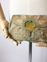 Load image into Gallery viewer, Original 1930s Simply Stunning Crewelwork Clutch Bag - In Beautiful Soft Pastels