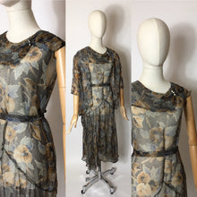 Load image into Gallery viewer, Original 1930's 2 Piece Dress & Jacket Set in Stunning Deco Pallet - A Festival Of Vintage Fashion Show Exclusive