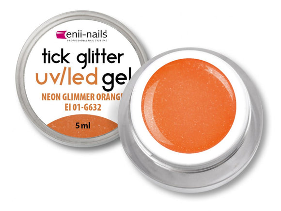 GLITTER GEL NEON ORANGE 5ml