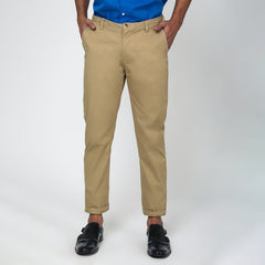 Khaki Bond Fit Washed Chino