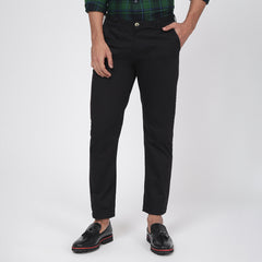 Jet Black Bond Fit Washed Chino