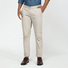 Smooth Grey Bond Fit Washed Chinos