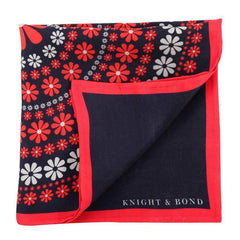 Floral Pocket Square-Knight & Bond-Elitify