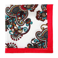 Knight and Bond Men Paisley Patterned Pocket Square-Elitify