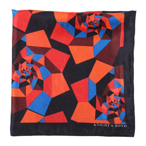 Geometric Floral Pocket Square-Knight & Bond-Elitify