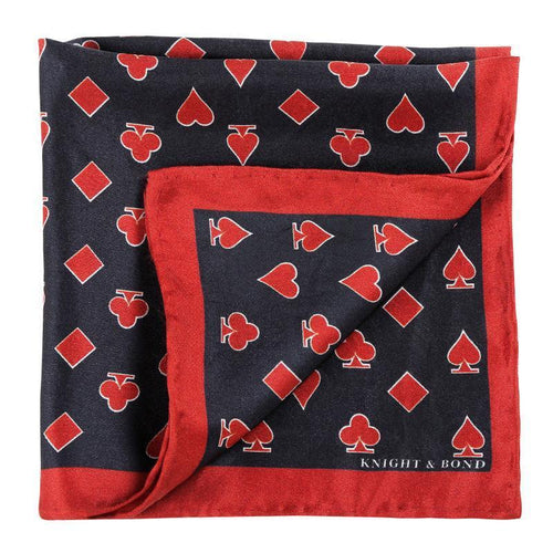 Catch 22 Pocket Square-Knight & Bond-Elitify