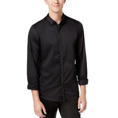 Miller Shirt with Faux-Leather Trim-Guess-Elitify